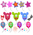 Fantasy Balloons on white background vector image