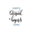 february 10 - carnival begins - ecuador hand vector image