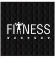 fitness star black polygon background image vector image vector image