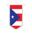 flag of puerto rico on a banner vector image vector image