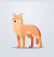 fox icon cute cartoon wild animal symbol vector image