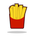 french fries in paper box isolated icon fast vector image vector image