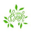 fresh organic ingredients and food 100 percent