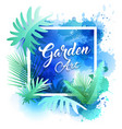 garden leaf design water color style vector image
