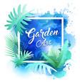 garden leaf design water color style vector image vector image