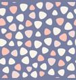 geometric spots seamless pattern blue pink vector image vector image