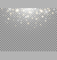 glitter light magic particles gold and white vector image vector image