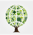green environment friendly tree concept vector image vector image