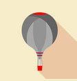 grey hot air balloon icon flat style vector image vector image