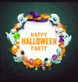 halloween trick or treat party witch monsters vector image vector image