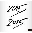 Happy New Year Handwritten calligraphic watercolor vector image vector image