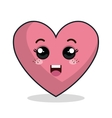 heart love character icon vector image