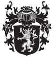 heraldic silhouette no20 vector image vector image