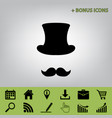 hipster accessories design black icon at vector image vector image