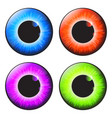 iris eye realistic set design isolated on white vector image vector image