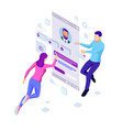 isometric concept of recruitment management vector image