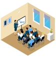 Isometric Training Composition vector image vector image