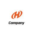 letter initial h oval modern logo design vector image vector image