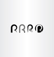letter r set icon black collection element vector image