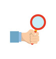 magnifying glass symbol vector image