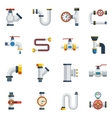 Pipes Icons Set vector image vector image