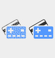 pixelated and flat plus bank cards icon vector image vector image