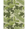 Pixelated jungle green camouflage repeat pattern vector image