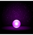 Purple Crystal Ball vector image