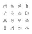 radio - flat line icons vector image vector image
