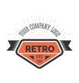 retro company vintage style logo template vector image