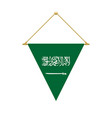saudi arabian triangle flag hanging vector image