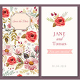 Save the Date floral template vector image vector image