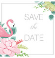 save the date wedding marriage event invitation vector image vector image