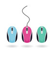 set bright colored computer mice isolated vector image vector image