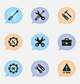 set of 9 editable service icons includes symbols vector image vector image