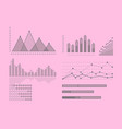 set of graphs and diagrams for infographics vector image vector image