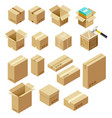 set package isometric vector image