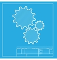 Settings sign White section of icon vector image vector image