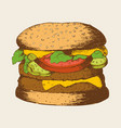 sketch of a hamburger vector image vector image