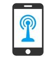 Smartphone Radio Control Icon vector image