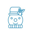 snowman linear icon concept snowman line vector image