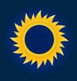 sun circle on blue sky background vector image