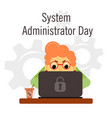 system administrator appreciation day vector image