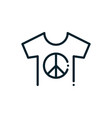 t-shirt peace and human rights line vector image vector image