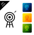 target with arrow icon isolated dart board sign vector image vector image