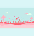 valentines day background with heart and houses vector image vector image