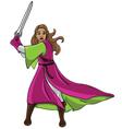 warrior girl vector image vector image