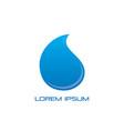 waterdrop water sign logo vector image vector image