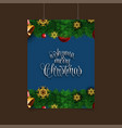 wish you merry christmas snowflake background vector image vector image