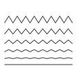 zigzag seamless wave lines set wavy wiggly black vector image vector image